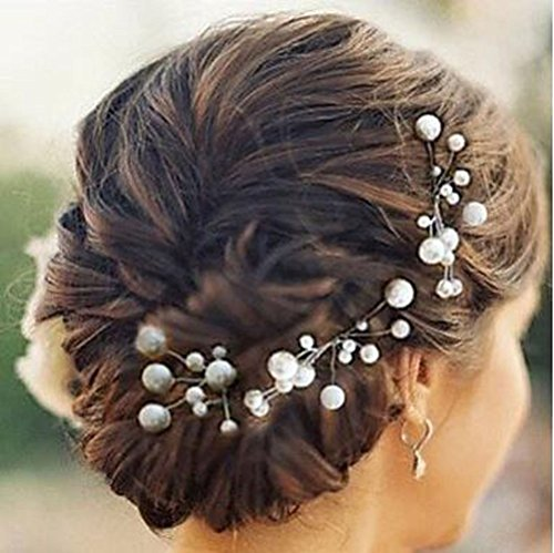 Aukmla Wedding Hair Pins Decorative Bridal Hair Accessories for Brides and Bridesmaids (Pack of 5)