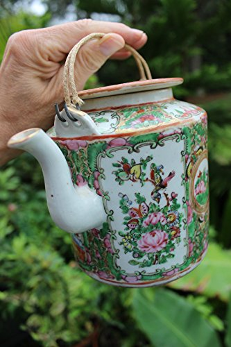 (Chinese porcelain teapot 14 cm, Qing dynasty, 19th c)