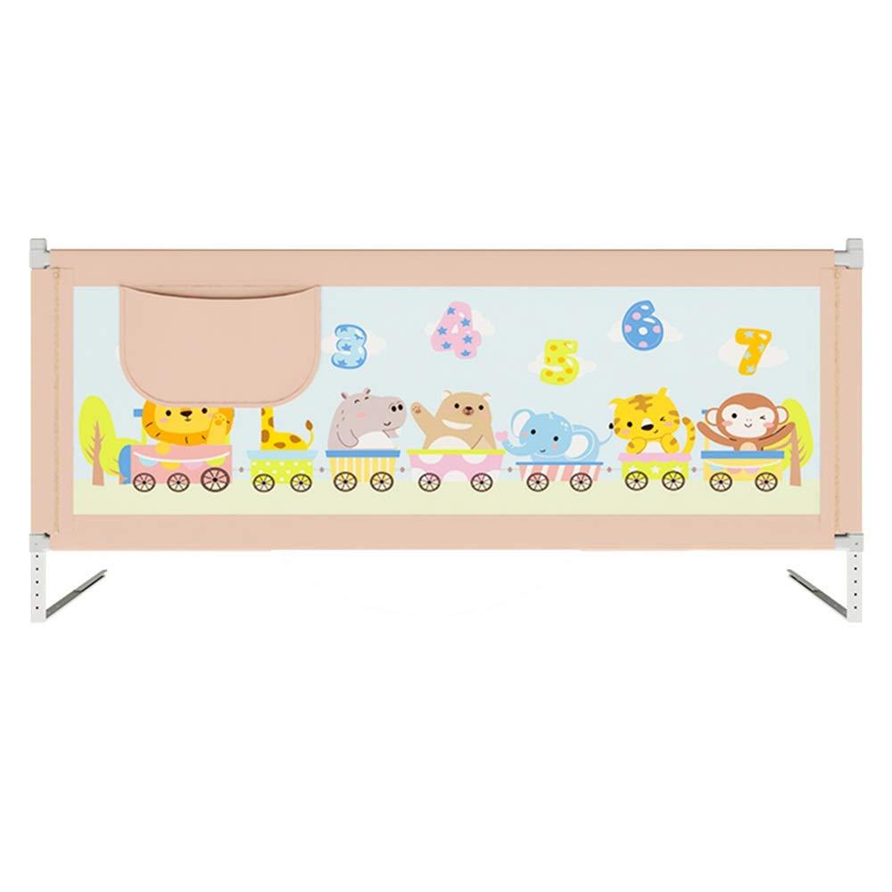 LHA ベッドガードフェンス ベッドの塀の赤ん坊の床の塀45度の基礎設計丈夫で信頼できる縦の上昇 - 1.2-2.2メートル (Color : Pink, Size : L-150cm) L-150cm Pink B07SYBG7RL