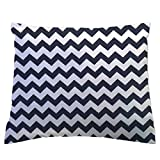 SheetWorld Crib/Toddler Percale Baby Pillow Case - Navy Chevron Zigzag - Made In USA