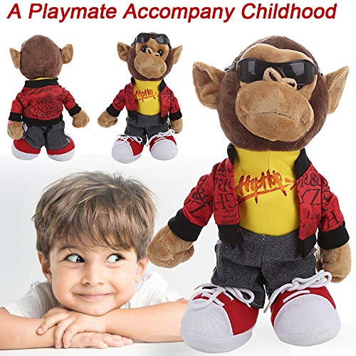 Plush Dolls Clearance , Adorable Electronic Monkey Dancing Singing Music Cute Stuffed Plush Toy for Kids Gifts (A) ()