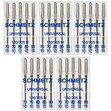 25 Schmetz Assorted Universal Sewing Machine Needles 130/705H 15x1H Sizes 70/10, 80/12, 90/14