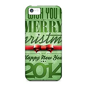 Durable Defender Case For Iphone 5c Tpu Cover(hd Happy New Year 2014)