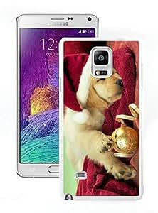 2014 Newest Christmas Dog White Samsung Galaxy Note 4 Case 45 hjbrhga1544