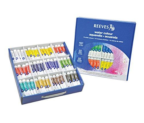 Reeves Watercolor Paint School/Community Pack, 144 Tubes,