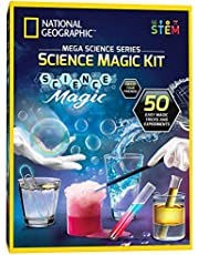 NATIONAL GEOGRAPHIC Science Magic Kit - Perform 20 Unique Experiments as Magic Tricks, Includes Magic Wand and Over 50 Pieces, Great Learning Science Kit for Boys and Girls