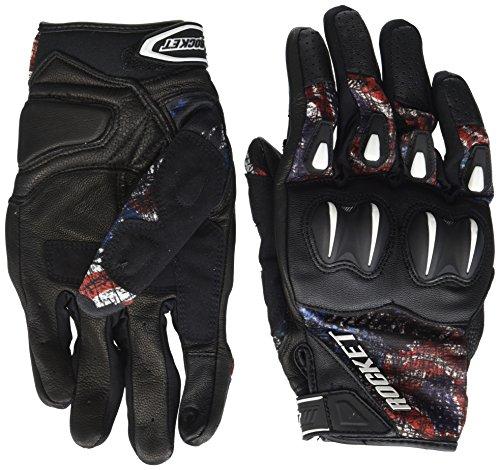 Joe Rocket Men's Cyntek Empire Motorcycle Gloves (Black/Red/White/Blue, Large)