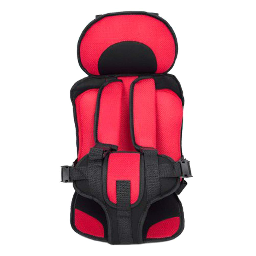 (Updated Version) Hocossy Portable Safe Car Seat for Baby Safety Seat Children's Chairs Thickening Sponge Kids Car Seats Children Car Seat (Red)