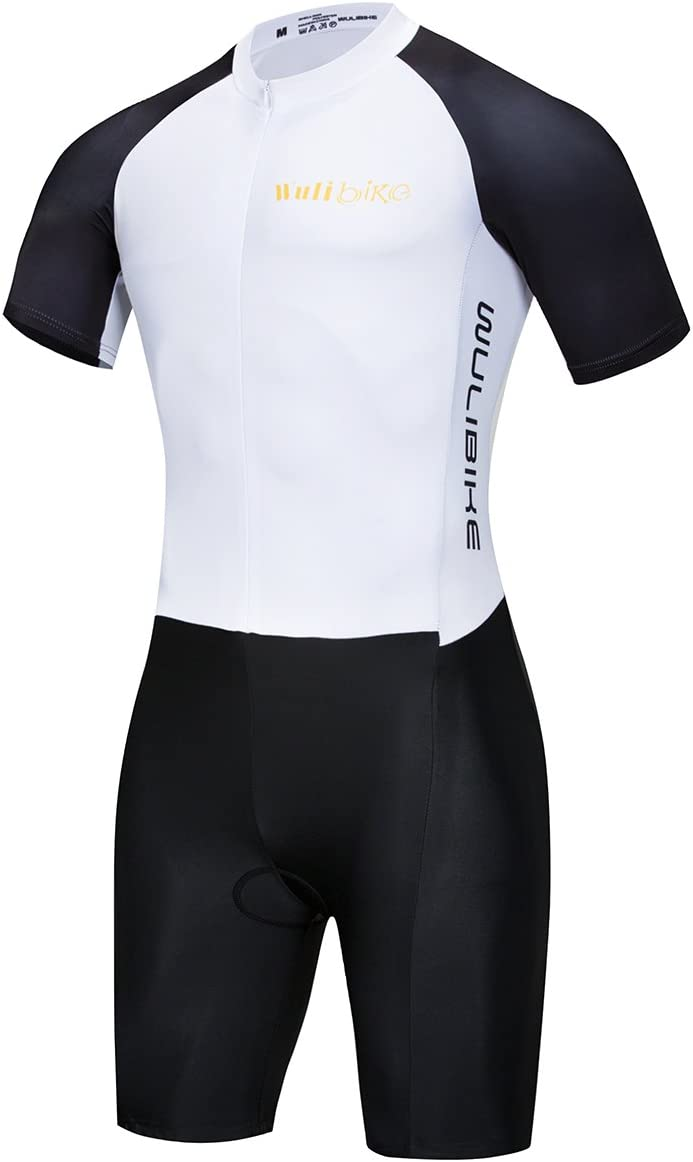 Lo.gas Men's Triathlon Trisuit Ironman Suits for Cycling Running Swimming Sleeveless Short Sleeve