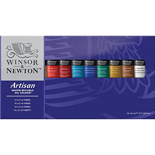 Winsor & Newton Artisan Water Mixable Oil Colour Set, Ten 21ml Tubes