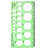 uxcell® 2mm-40mm Diameter Range Circles Measuring Drawing Stencil Template Ruler