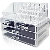 Unique Home Makeup Cosmetic Organizer Conceal/Lipstick/Eyeshadow/Brushes in One place Storage Drawers, Clear,...