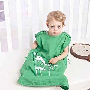 Bébé nouveau-né Sacs de couchage Sleepsacks I-baby garçons filles en mousseline de coton pour bébé respirant d'emmaillotage d'été pour 0 3 6 12 18 à 24 mois 40% fibre de charbon de bambou