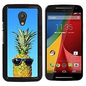 Be Good Phone Accessory // Dura Cáscara cubierta Protectora Caso Carcasa Funda de Protección para Motorola MOTO G 2ND GEN II // cool blue pineapple dude weed 420