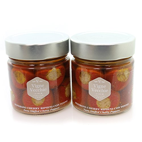 (Vigne Vecchie Tuna Stuffed Peppers 8 oz jar (2 pack))
