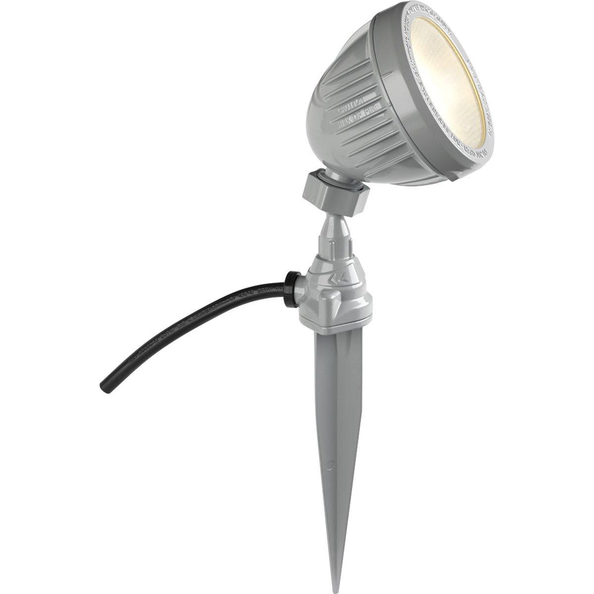 Progress Lighting P6346-8230K Floodlight with Spike Metallic Gray