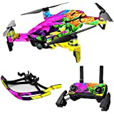 MightySkins Skin For DJI Max Coverage - Colorful Flowers | Protective, Durable, and Unique Vinyl Decal wrap cover | Easy To Apply, Remove, and Change Styles | Made in the USA