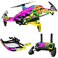 MightySkins Skin for DJI Mavic Air Drone - Colorful Flowers | Max Combo Protective, Durable, and Unique Vinyl Decal wrap cover | Easy To Apply, Remove, and Change Styles | Made in the USA