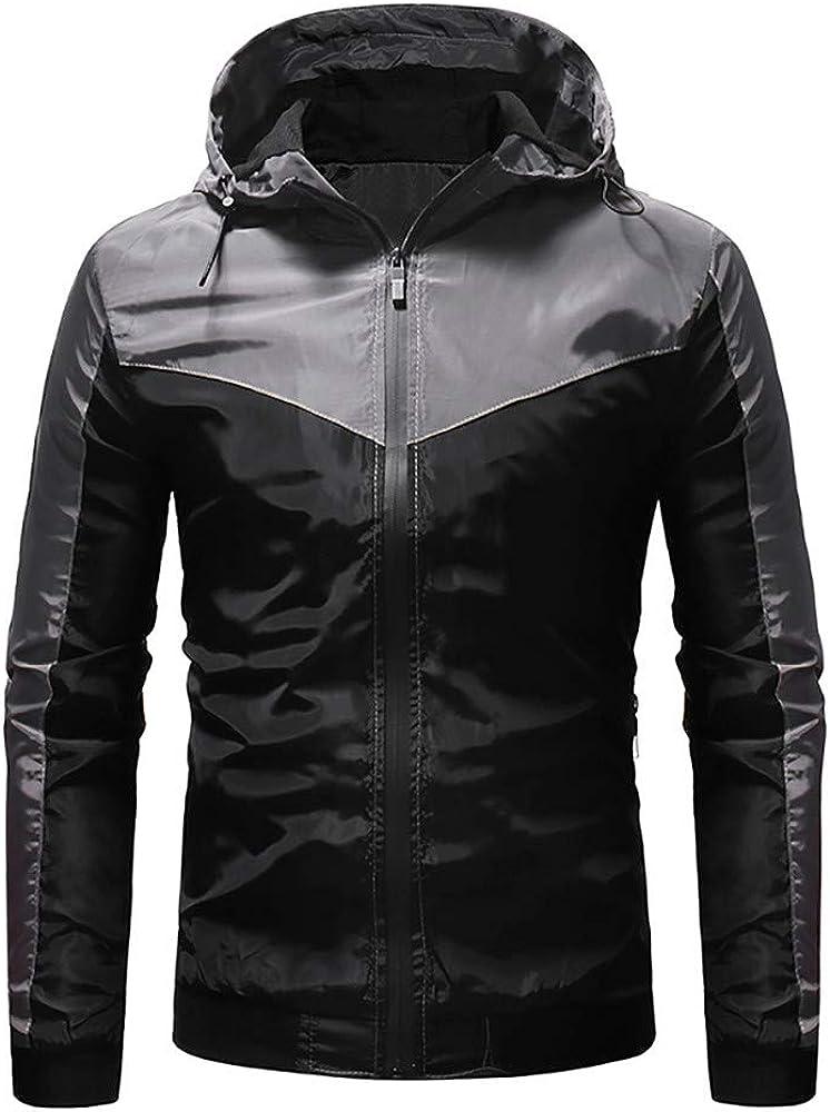 Mens Trench Coat.Mens Autumn Winter Zip Casual Long Sleeve Slim Pocket Fit Hoodies Jacket Coat