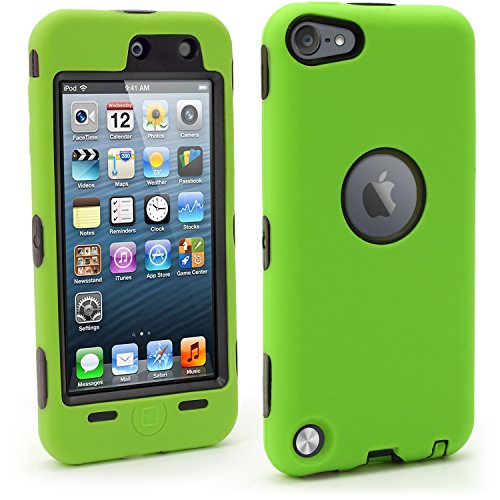 igadgitz U6668 Hard Plastic Case Compatible with Apple iPod Touch 5th 6th 7th Gen -Green/Black