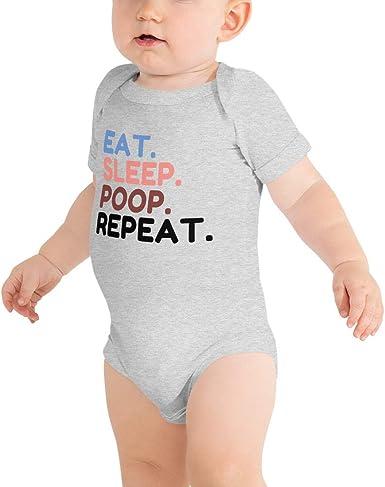 Eat Sleep Be Happy Repeat Baby Bodysuit