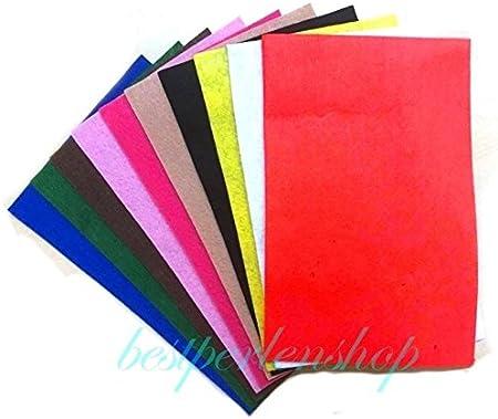 Fieltro placas 10colores 20X 30Mm (DIN A4) 1,5mm Fieltro Para Manualidades DIY Fieltro