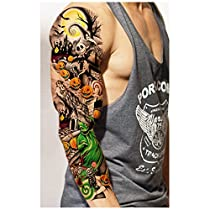 Artimag & 3pcs Waterproof Temporary Tattoos Sleeve Body Art Men Women Colorful Fake Tattoo Paper Tattoo Sticker Arm Stockings Sex Products