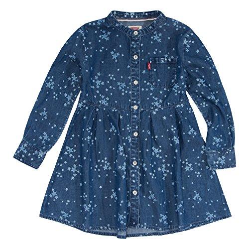 Levi's Girls' Toddler Long Sleeve Western Dress, Blue Winds 2T