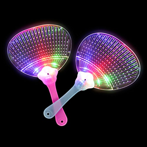 Light Up Fan - Party Pack of 12 LED Light-Up