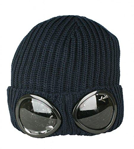CP Company para hombre gafas de funda lana lana Beanie sombrero AW2014 azul marino