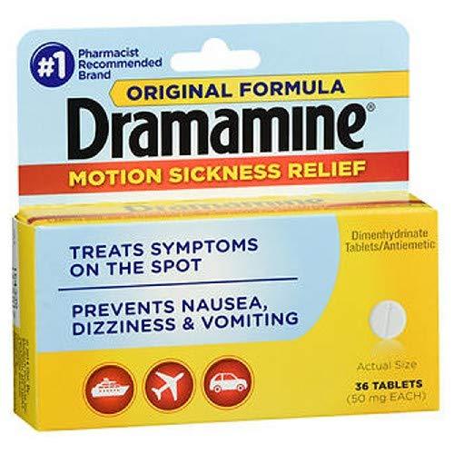 Dramamine Original Formula Tablets 36 ea (Pack of 5) by Dramamine