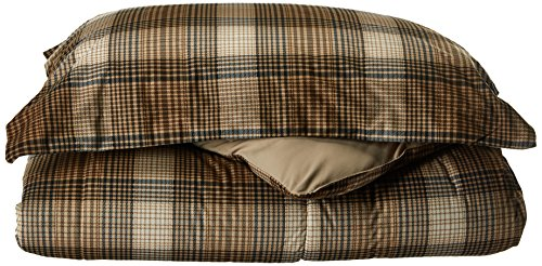 - Woolrich Lumberjack Full/Queen Size Bed Comforter Set - Brown, Khaki, Farmouse, Rustic Plaid – 3 Pieces Bedding Sets – Softspun Flannel Bedroom Comforters