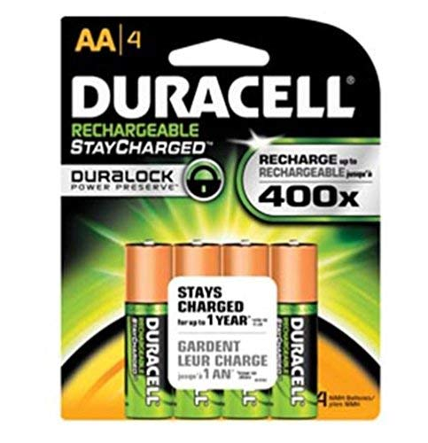 Duracell AA NiMH rechargeable blister pack, 4 per pkg. 2500mAh Duracell Nickel Camera Battery