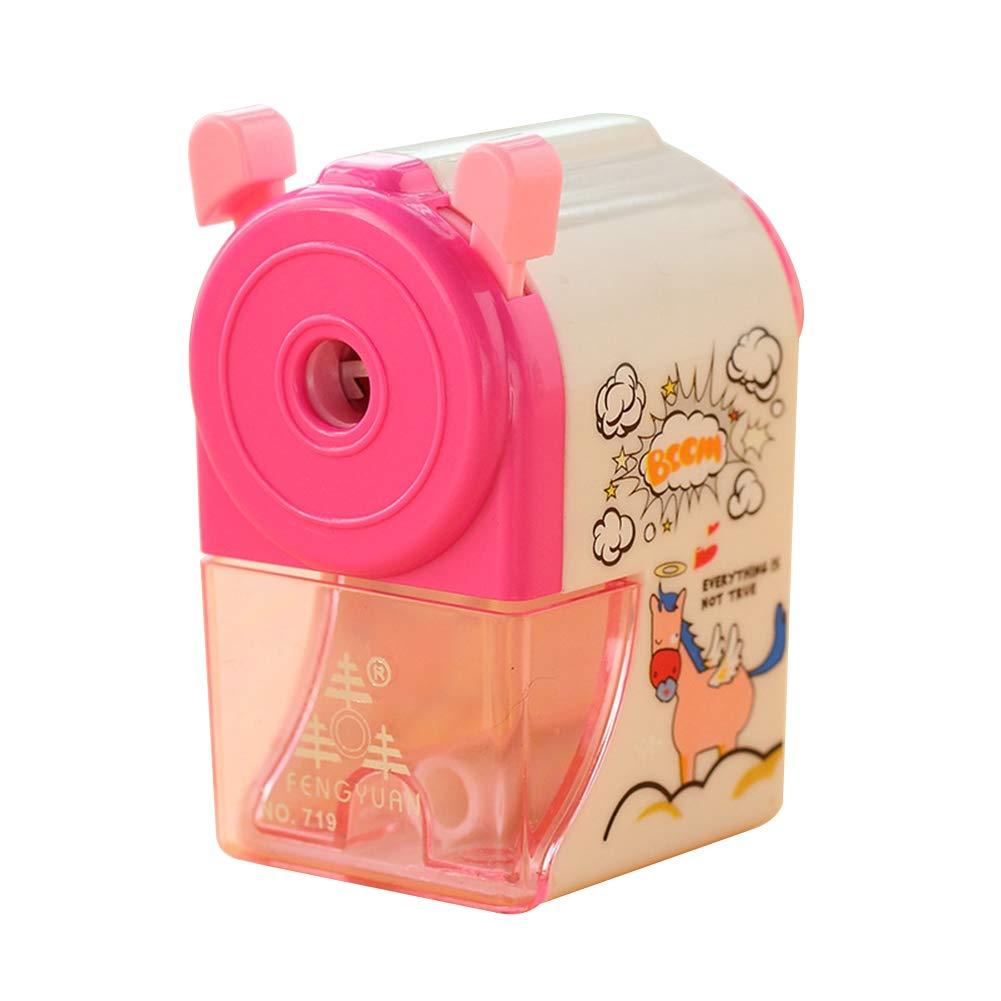 cancelleria per la scuola Blue Pink888 temperamatite manuale meccanico a manovella per bambini