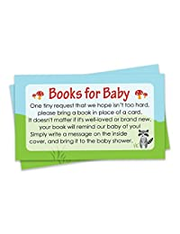 Books for Baby Request Cards - Woodland Baby Shower Invitation Inserts (20 Count) BOBEBE Online Baby Store From New York to Miami and Los Angeles