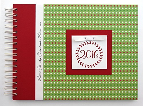 Christmas Photo Album | Christmas Dots with Wreath | Choose Your Charm and Cover | Full-Size Photo Book