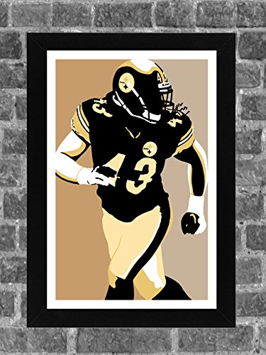 Pittsburgh Steelers Wrapping Paper - Pittsburgh Steelers Troy Polamalu Portrait Sports Print Art 11x17