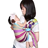 Cuby Handmade Cotton Ring Sling Wrap Baby Sling Carrier Best Gift For Parent (Rainbown)