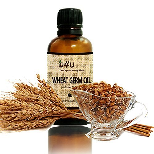 O4U Organic Undiluted Cold Pressed wheat germ Carrier Oil - 50 ml/100% Natural & Organic Massage Oil - Moisturizes & Conditions, Ideal for Skin, Body, Hair loss Treatment, and Hair Growth ()