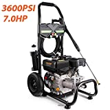Mabay 3600PSI 212CC Gas Pressure Washer, 2.8GPM Gas Powered Power Washer