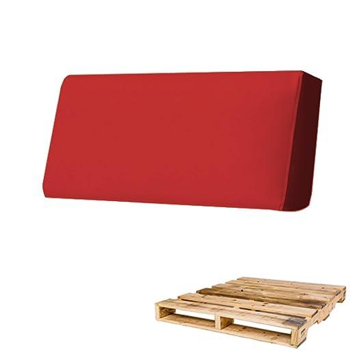 Cuscini Per Arredo Giardino.Arketicom Cuscino Per Pallet Bancali Schienale 80x30x15 Rosso