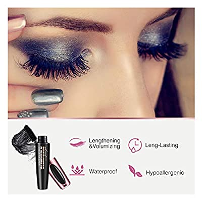Ariella 4D Silk Fiber Lash Mascara Waterproof, Luxuriously Longer 4D Mascara