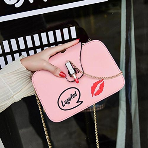 Messenger Elegant Small Square New Chain Package Bag Baguettes Clutch Handbags Pink Totes WenL Bag 4vZxFqF