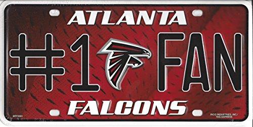 NFL Atlanta Falcons #1 Fan Metal License Plate Tag