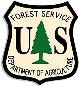 fire us Forest Forestry American Vinyl Full Color Smokey The Bear Face Shaped Sticker