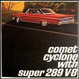 1964 MERCURY COMET CYCLONE SUPER 289 V-8 FULL COLOR DEALERHIP SALES BROCHURE - ADVERTISMENT - LITERATURE 64