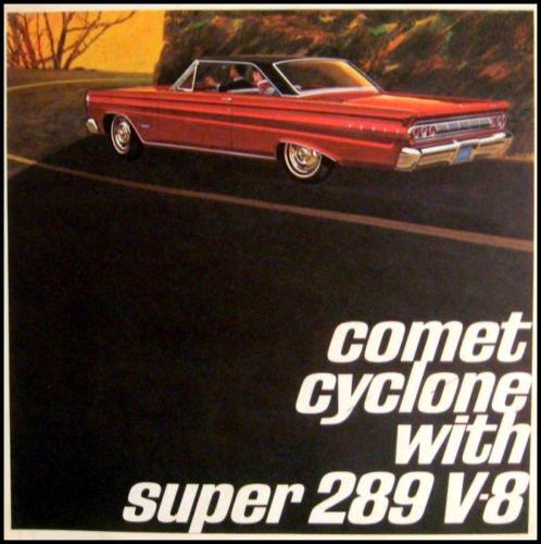 1964 MERCURY COMET CYCLONE SUPER 289 V-8 FULL COLOR DEALERHIP SALES BROCHURE - ADVERTISMENT - LITERATURE 64 - Mercury Comet Restoration