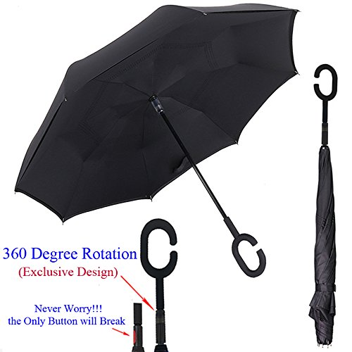 Inverted Umbrella 360 degree Push Pull Waterproof product image