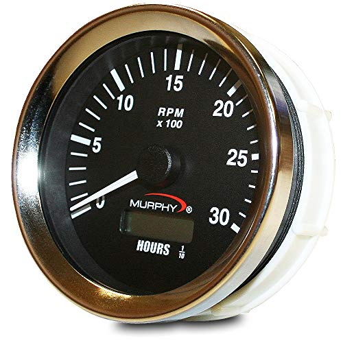 Murphy by Enovation Controls ATH-30 12/24 VDC Analog Tachometer/Hourmeter ()
