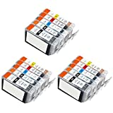 Inkcool 30 (6 each) Pack Non-OEM Ink for pgi-225 CLI-226 Pixma ip4820 iP4920 MG5120 MG5220 MG5320 MG6120 MG6220 MG8120 MG8220 MX882 Printer (6LB/6SB/6C/6Y/6M)